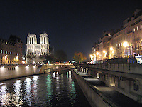 Notre Dame & Seine River at Night