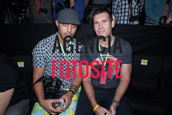 Rio de Janeiro, Brasil - 16/04/2013 - Lee Oliveira e Jamie Watson no desfile de Apoena durante o Fashion Rio  - Verao 2014. Foto: Barbara Dutra/ FOTOSITE