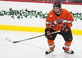 Marlon Sabo (Princeton - 2) - The Harvard University Crimson defeated the visiting Princeton University Tigers 5-0 on Harvard's senior night on Saturday, February 28, 2015, at Bright-Landry Hockey Center in Boston, Massachusetts.