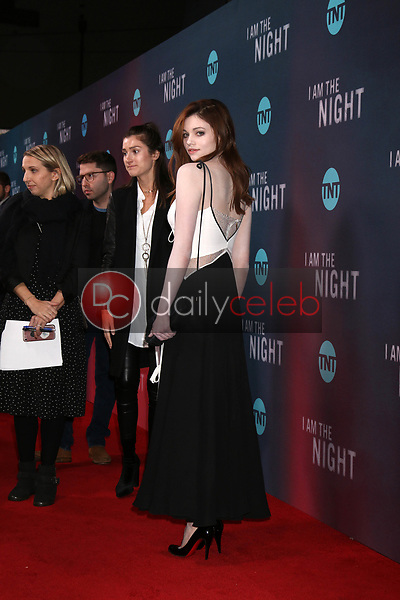 """India Eisley<br /> at the """"I Am The Night"""" Premiere, Harmony Gold Theater, Los Angeles, CA 01-24-19<br /> David Edwards/DailyCeleb.com 818-249-4998"""