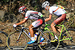 Kohei Uchima (JPN), Toms Skujins (LAT),<br /> AUGUST 6, 2016 - Cycling :<br /> Men's Road Race during the Rio 2016 Olympic Games in Rio de Janeiro, Brazil. (Photo by Yuzuru Sunada/AFLO)