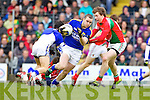 Patrick Curtin Kerry in action against Eoghan Rielly Mayo in the National Football League in Austin Stack Park on Sunday..