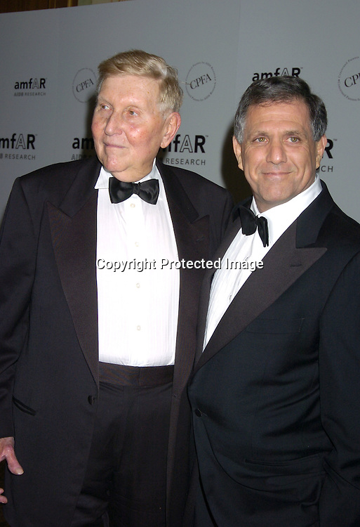 Sumner Redstone and Les Moonves ..at The Annual amFar Benefit on November 30, 2004 at ..The Pierre Hotel in New York City. Patti LaBelle, Sumner Redstone and Peter Dolan were honored. ..Photo by Robin Platzer, Twin Images