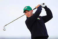 Julien Paltrinieri (ITA) on the 5th tee during Round 1 of the The Amateur Championship 2019 at The Island Golf Club, Co. Dublin on Monday 17th June 2019.<br /> Picture:  Thos Caffrey / Golffile<br /> <br /> All photo usage must carry mandatory copyright credit (© Golffile | Thos Caffrey)