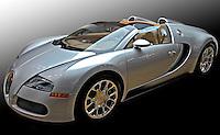 Automovel esportivo Bugatti. Foto de Manuel Lourenço.