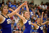 NWA Democrat-Gazette/BEN GOFF @NWABENGOFF<br /> Mary Hadley Williams, sophomore, and the Rogers High dance team perform on Friday Sept. 18, 2015 during the homecoming ceremony at Rogers High School.