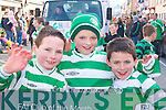 Killarney Celtic players Jason Cahillane, Jacob Daly and Conor Quirke at the Killarney St Patricks Day parade on Monday   Copyright Kerry's Eye 2008