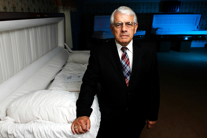 "Funeral director Douglas T. Boyer has been serving the New Bloomfield, PA area for the past 37 years. More and more families are having trouble paying their funeral bills and the state does not assist them. ""We've never turned anyone away for lack of payment, not ever, the funeral home just loses that income"", said Boyer. With a basic casket and burial plot costing $6,000 - $8,000 and cremation $1,500, Boyer says more and more funeral homes are saying no to payments. JUSTIN A. SHAW/The Patriot-News"