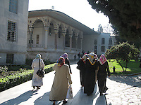 Muslim women in traditional clothing, Istanbul