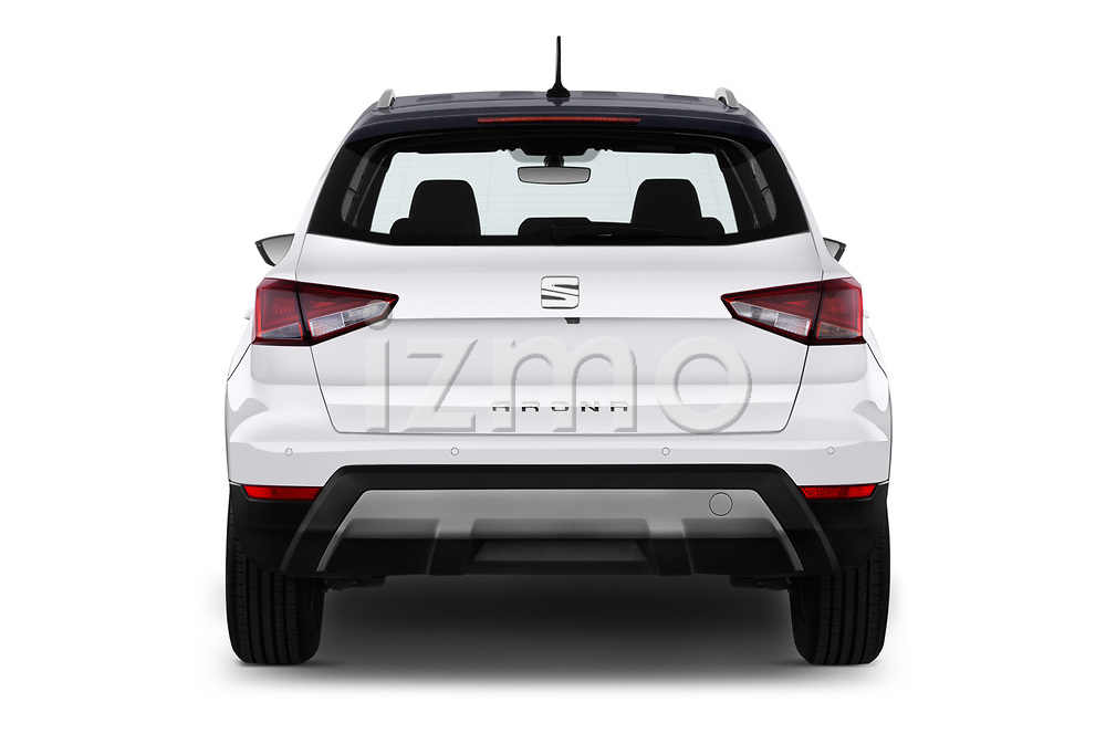 Straight rear view of a 2018 Seat Arona Xcellence 5 Door SUV stock images