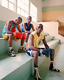 ERITREA, Asmara, boxers at a training facility in Asmara