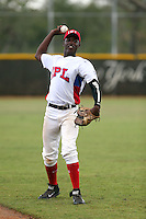 Johan Sala Felix participates in the International Prospect League Showcase at the New York Yankees academy in Boca Chica, Dominican Republic on January 24, 2014 (Bill Mitchell)