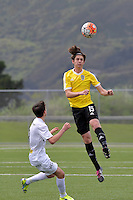 Phoenix&rsquo; Sam Sutton in action during the National Youth League - Phoenix Youth v Team Wellington Youth at Petone Memorial Park, Lower Hutt, New Zealand on Saturday 29 October 2016.<br /> Photo by Masanori Udagawa. <br /> www.photowellington.photoshelter.com.