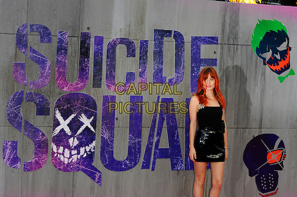 LONDON, ENGLAND - AUGUST 3: Georgia May Jagger attending the 'Suicide Squad' European Premiere at Odeon Cinema, Leicester Square on August 3, 2016 in London, England.<br /> CAP/MAR<br /> &copy;MAR/Capital Pictures