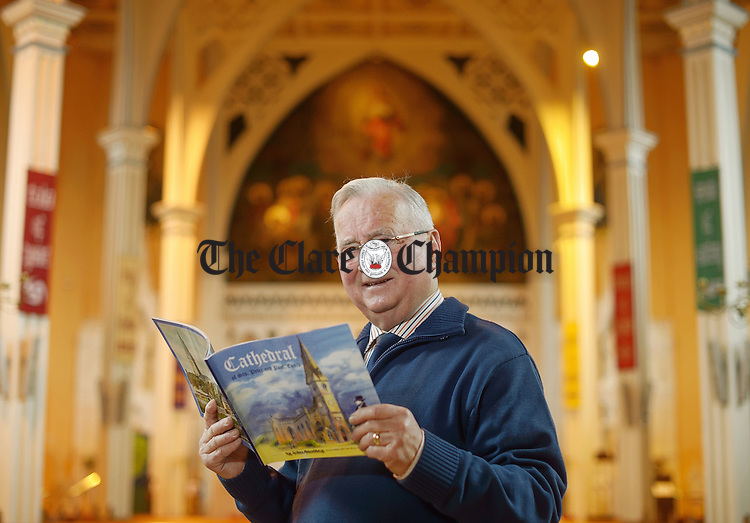 John Bradley of The Clare Roots Society, who is launching a book on the Cathedral of Saints Peter And Paul in Ennis. Photograph by John Kelly.