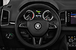 Car pictures of steering wheel view of a 2018 Skoda Karoq Style 5 Door SUV