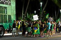 MACEIÓ, AL, 17.03.2016 - PROTESTO-DILMA - Manifestantes contrario ao governo Dilma Rousseff durante ato pelo  impeachment da presidente, após a posse do Lula na orla da ponta verde em Maceió, nesta quinta, 17. (Foto: Alisson Frazão/Brazil Photo Press)
