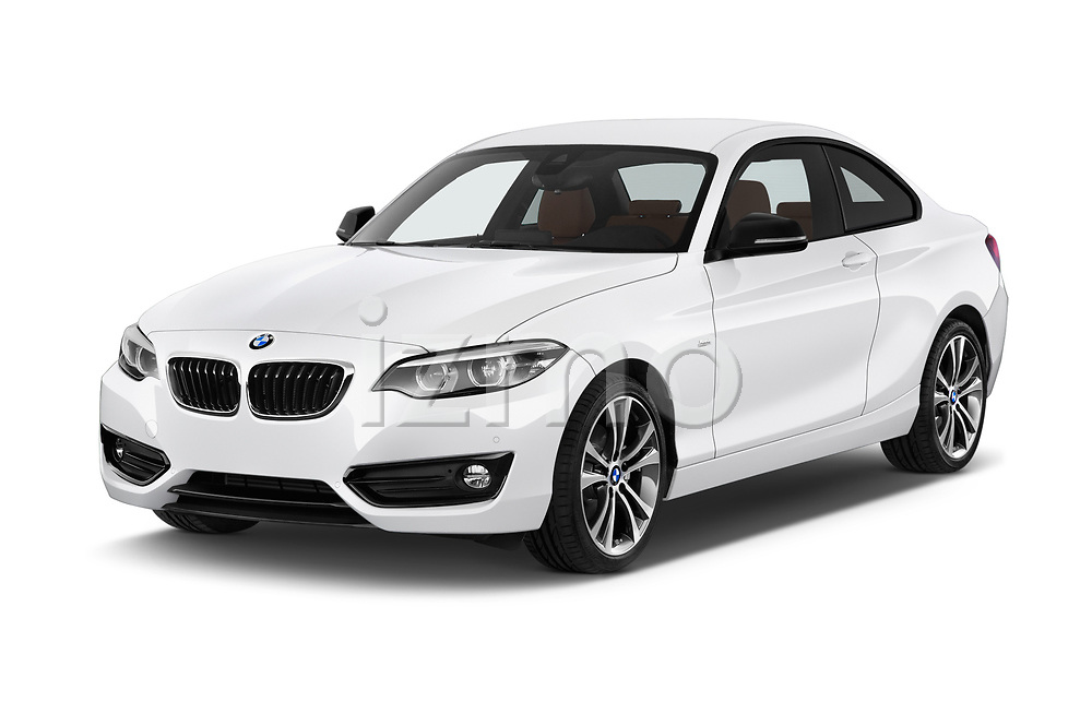 2018 BMW 2 Series Sport 2 Door Coupe angular front stock photos of front three quarter view