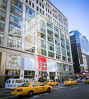 The Midtown Manhattan JCPenney department store in New York is seen on Thursday, January 24, 2013. The New York Post is reporting that JCPenney is asking suppliers to inflate their MSRP so that the retailer can mark them down appearing as if they are giving a big discount.  (© Richard B. Levine)