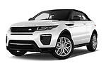 Stock pictures of low aggressive front three quarter view of 2017 Land Rover Range-Rover-Evoque HSE-Dynamic 2 Door SUV Low Aggressive
