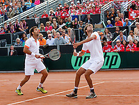 15-09-12, Netherlands, Amsterdam, Tennis, Daviscup Netherlands-Suisse, Doubles, Robin Haase/Jean-Julian Rojer(L)