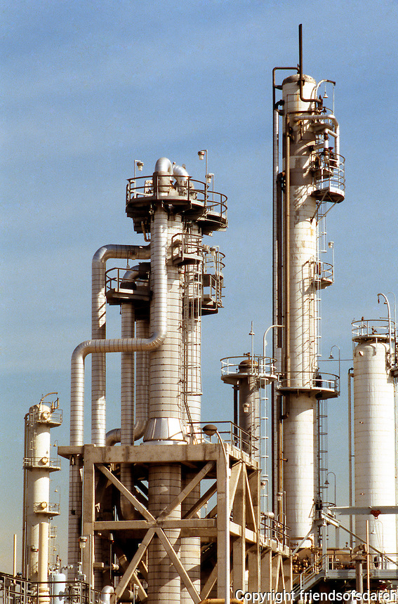 Carson CA: Arco Refinery.   Photo '88.