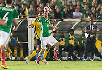 Pasadena, CA - Thursday June 09, 2016: Hirving Lozano during a Copa America Centenario Group C match between Mexico (MEX) and Jamaica (JAM) at Rose Bowl Stadium.