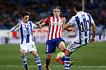 Atletico de Madrid´s Filipe Luis and Real Sociedad´s Capilla during 2015-16 La Liga match between Atletico de Madrid and Real Sociedad at Vicente Calderon stadium in Madrid, Spain. March 01, 2016. (ALTERPHOTOS/Victor Blanco)