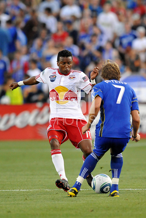 Tony Tchani, Chance Meyers...Kansas City Wizards were defeated 3-0 by New York Red Bulls at Community America Ballpark, Kansas City, Kansas.