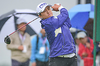 Amy Yang (KOR) watches her tee shot on 10 during Friday's second round of the 72nd U.S. Women's Open Championship, at Trump National Golf Club, Bedminster, New Jersey. 7/14/2017.<br /> Picture: Golffile | Ken Murray<br /> <br /> <br /> All photo usage must carry mandatory copyright credit (&copy; Golffile | Ken Murray)