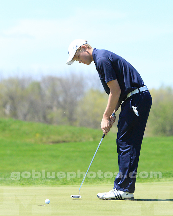 University of Michigan men's golf in Day 1 action at the 2011 Big Ten Tournament hosted by Purdue University in West Lafayette, IN, on April 29th, 2011