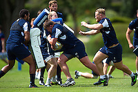 David Wilson of Bath Rugby takes on the defence. Bath Rugby pre-season training session on August 9, 2016 at Farleigh House in Bath, England. Photo by: Patrick Khachfe / Onside Images