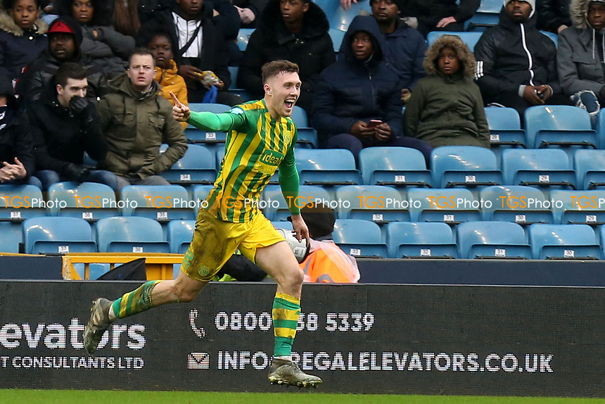 Dara O'Shea of West Bromwich Albion celebrates scoring the second goal during Millwall vs West Bromwich Albion, Sky Bet EFL Championship Football at The Den on 9th February 2020