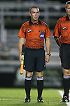 17 October 2014: Assistant referee Justin Bradford. The Duke University Blue Devils hosted the Notre Dame University Fighting Irish at Koskinen Stadium in Durham, North Carolina in a 2014 NCAA Division I Men's Soccer match. Notre Dame won the game 4-1.