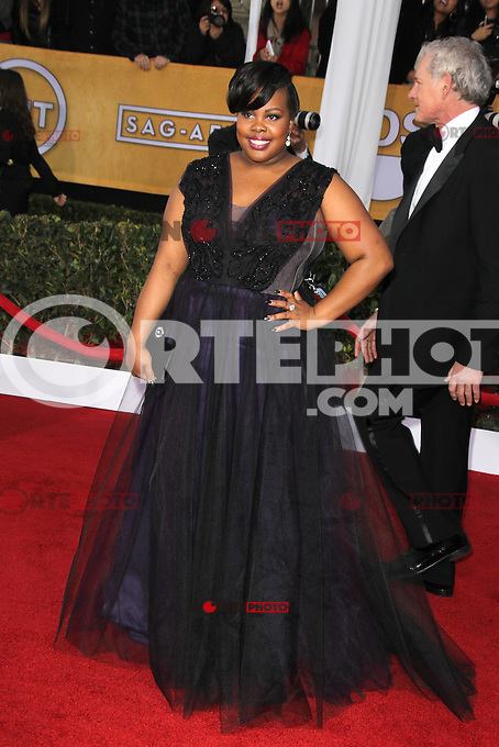 LOS ANGELES, CA - JANUARY 27: Amber Riley at The 19th Annual Screen Actors Guild Awards at the Los Angeles Shrine Exposition Center in Los Angeles, California. January 27, 2013. Credit: mpi27/MediaPunch Inc. /NortePhoto /NortePhoto
