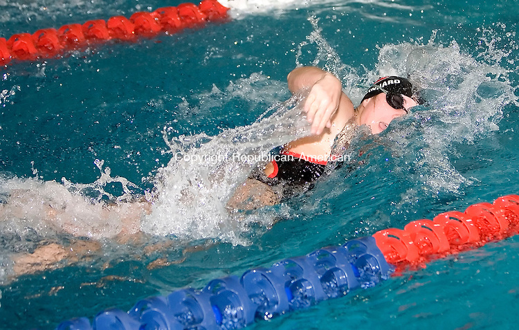 NEW HAVEN, CT- 02 NOV 06- 110206JT08- <br /> Cheshire's Alyssa Reinhard swims in the final heat for the 200 Yard Freestyle during the SCC championships in New Haven on Thursday. <br /> Josalee Thrift Republican-American