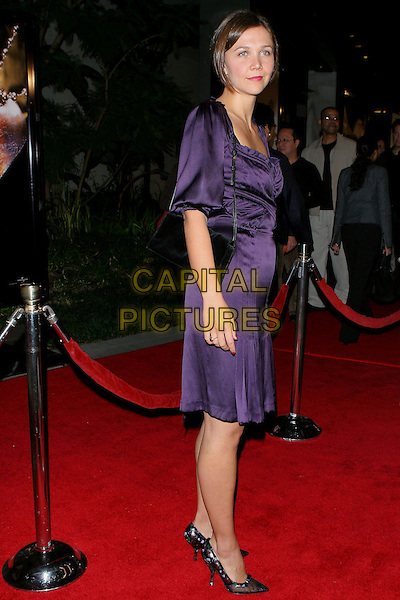 "MAGGIE GYLLENHAAL .The World Premiere of ""Jarhead"" .held at the Arclight Theatre, Hollywood  CA..October 25th, 2005.Photo credit: Jacqui Wong/AdMedia/Capital Pictures.Ref: JW/ADM.full length purple dress .www.capitalpictures.com.sales@capitalpictures.com.© Capital Pictures."