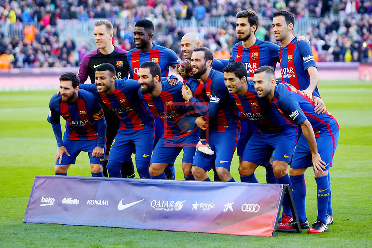 League Santander 2016/2017. Game: 18.<br /> FC Barcelona vs UD Las Palmas: 5-0.