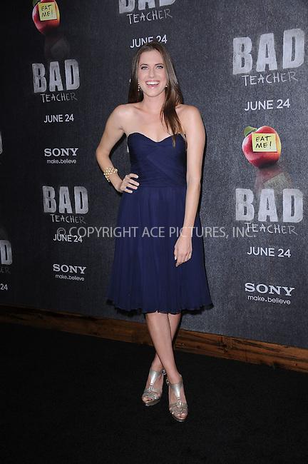 WWW.ACEPIXS.COM . . . . . .June 20, 2011...New York City... Allison Williams attends the premiere of 'Bad Teacher' at the Ziegfeld Theatre on June 20, 2011 in New York City.....Please byline: KRISTIN CALLAHAN - ACEPIXS.COM.. . . . . . ..Ace Pictures, Inc: ..tel: (212) 243 8787 or (646) 769 0430..e-mail: info@acepixs.com..web: http://www.acepixs.com .