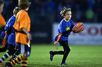 Jaffa Tag Rugby action at half-time. West Country Challenge Cup match, between Bath Rugby and Exeter Chiefs on October 10, 2015 at the Recreation Ground in Bath, England. Photo by: Patrick Khachfe / Onside Images