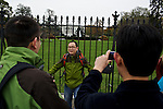 Lian Jin Jing, 31, a tourist from China, has his photo taken in front of the White House on Nov. 7, 2012, the day after President Barack Obama was declared the winner of the 2012 Presidential Election.