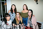 Friends from Mercy Mounthawk home from San Francisco and Melbourne having a Girls Night out at Denny Lane on Saturday were front l-r Niamh Carmody, Karen Conway, Ashley Campbell, Back l-r Rebecca Driscoll and Stacey O Sullivan