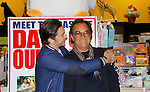 """Cast of Days Of Our Lives - Billy Flynn, Thaao Penghlis """"Andre DiMera"""" sign book """"Days Of Our Lives 50 Years"""" by Greg Meng - author & co-executive producer on October 27, 2015 at Books & Greetings, Northvale, New Jersey. (Photo by Sue Coflin/Max Photos)"""