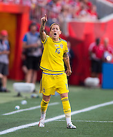 Winnipeg, Manitoba, Canada - June 12, 2015: The USWNT tied Sweden 0-0 in their second group game during the FIFA Women's World Cup at Winnipeg stadium.