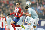 Atletico de Madrid's Antoine Griezmann (l) and Celta de Vigo's Jonny Castro during Spanish Kings Cup match. January 27,2016. (ALTERPHOTOS/Acero)