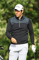 Adrian Otaegui (ESP) on the 4th tee during Round 2 of the Sky Sports British Masters at Walton Heath Golf Club in Tadworth, Surrey, England on Friday 12th Oct 2018.<br /> Picture:  Thos Caffrey | Golffile<br /> <br /> All photo usage must carry mandatory copyright credit (&copy; Golffile | Thos Caffrey)