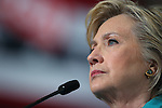 Democratic presidential nominee Hillary Clinton stumps in Reno, Nev., on Thursday, Aug. 25, 2016. Cathleen Allison/Las Vegas Review-Journal