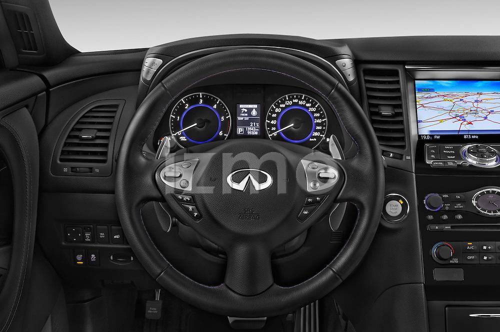 Car pictures of steering wheel view of a 2015 Infiniti QX70 S 5 Door Suv Steering Wheel