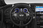 Car pictures of steering wheel view of a 2015 Infiniti QX70 S 5 Door Suv Steering Wheel