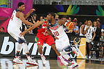 06.09.2014. Barcelona, Spain. 2014 FIBA Basketball World Cup, round of 16. Picture show K. Irving and J. Gutierrez   in action during game between  Mexico v Usa  at Palau St. Jordi